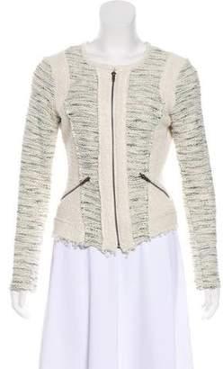 DREW Tweed Zip-Up Jacket