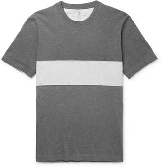 Brunello Cucinelli Panelled Mélange Cotton-Jersey T-Shirt