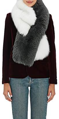LILLY e VIOLETTA Women's Fox-Fur Pull-Through Scarf