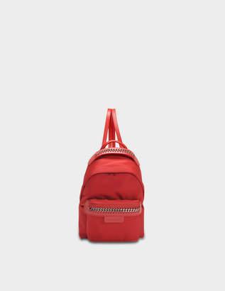 Stella McCartney Eco Nylon Falabella Go Mini Backpack in Lipstick Eco Leather