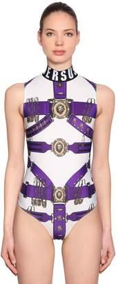 Versus Belt Heritage Print Lycra Bodysuit