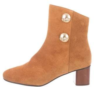 Chloé Suede Round-Toe Ankle Boots w/ Tags
