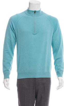 Theory Half-Zip Cashmere Sweater