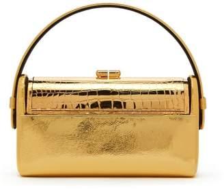 Bienen Davis Bienen-davis - Regine Leather And Gold Plated Minaudiere Clutch - Womens - Gold
