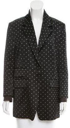 Thakoon Long Sleeve Printed Blazer