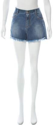 Ermanno Scervino Distressed Mini Shorts