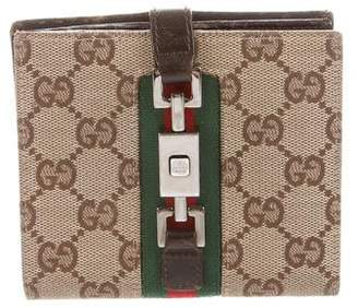 Gucci GG Jackie Web French Wallet