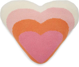 Blabla Kids Kids Heart Rib-Knit Cotton Pillow