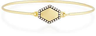 Prive Jemma Wynne Personalized Hexagon Bangle with Diamonds in 18K Gold