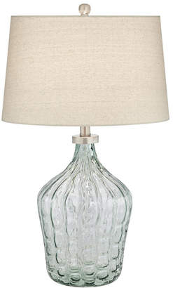 clear Pacific Coast Green Art Glass Table Lamp