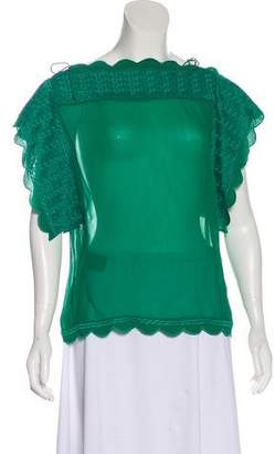 Isabel Marant Sleeveless Embroidered Blouse