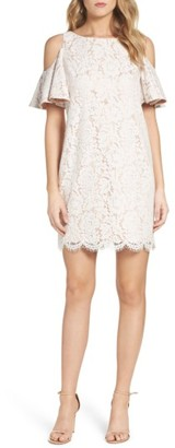 Women's Chelsea28 Cold Shoulder Lace Shift Dress $149 thestylecure.com