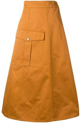 Barena long A-line skirt
