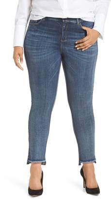 Ashley Graham x Marina Rinaldii Idruro High Rise Slim Leg Raw Hem Jeans