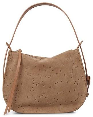 Allsaints Mini Echo Star Embossed Convertible Shoulder Bag - Brown $278 thestylecure.com
