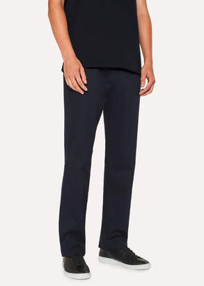 Paul Smith Men's Standard-Fit Dark Navy Organic Cotton Chinos