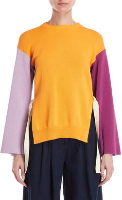 1eb417da8c Cavallini Erika Color Block Side Lace-Up Sweater