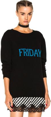 ALBERTA FERRETTI Friday Crewneck Sweater $490 thestylecure.com