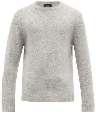 Allude Round Neck Knitted Sweater - Mens - Light Grey