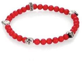 King Baby Studio Red Coral Beaded Bracelet
