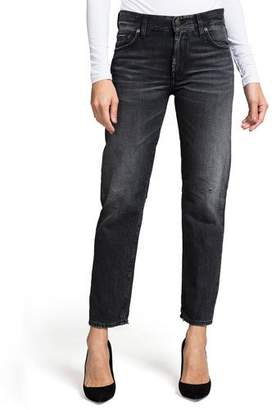 PRPS Delorean Mid-Rise Straight-Leg Ankle Jeans - Northern Lights