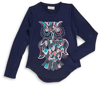 Sugar And Diamonds Girls 7-16 Owl Graphic Top $22 thestylecure.com