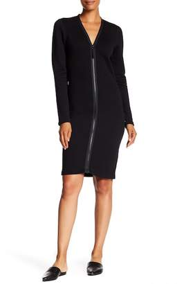 James Perse Zip Front Scuba Dress