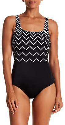 Reebok Visual Touch Scoop Back One-Piece Swimsuit