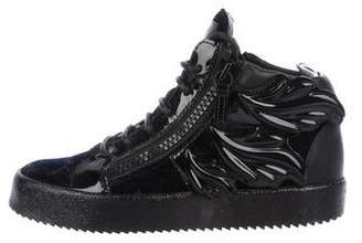 510edc51029da Giuseppe Zanotti Patent Leather High-Top Sneakers