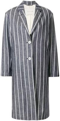 MACKINTOSH striped single-breasted coat