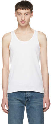 Maison Margiela Three-Pack White Stereotype Tank Top