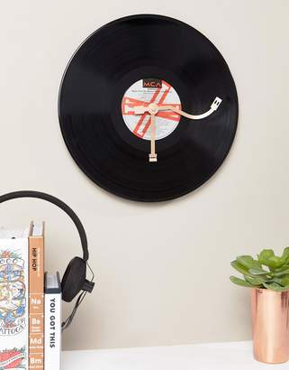 Thumbs Up Vinyl Clock