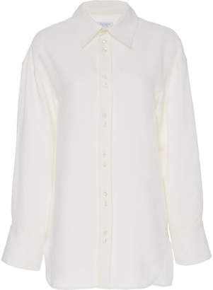Deveaux Roden Collared Shell Top