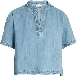 Rachel Comey Gabe Mandarin-collar denim top