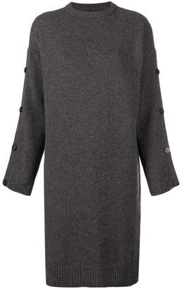 Pierantonio Gaspari Pierantoniogaspari buttoned sleeves sweater dress