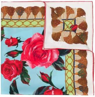 Dolce & Gabbana floral tassel print scarf