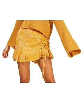 MinkPink Golden Safari Mini Skirt