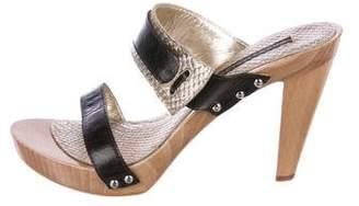 Studio Pollini Leather Slide Sandals