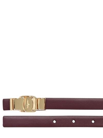 Salvatore Ferragamo 15mm Reversible Saffiano Leather Belt