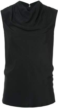 Rick Owens draped neck tank top
