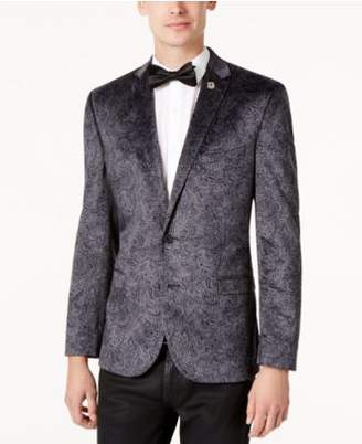 Nick Graham Men's Slim-Fit Velvet Paisley Dinner Jacket