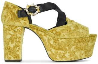 Erdem Velvet phillipa 110 platform sandals