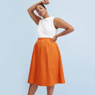 Everlane The Clean Cotton A-Line Skirt