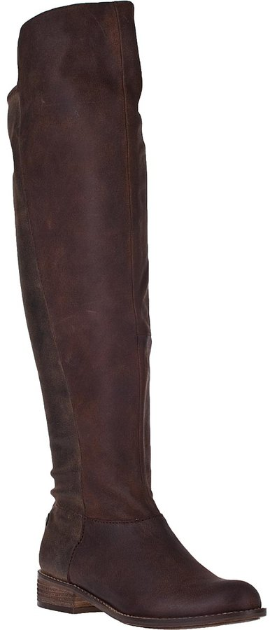 Steve Madden Hazele Tall Boot Brown Leather