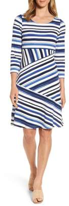 Tommy Bahama Aquarelle Stripe A-Line Dress