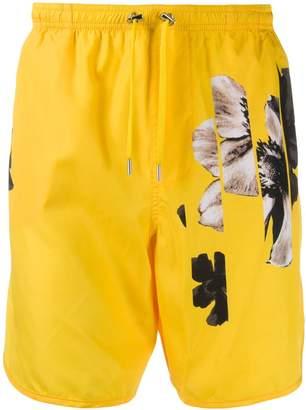 floral print swim shorts