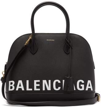 Balenciaga Ville Top Handle M Bag - Womens - Black White