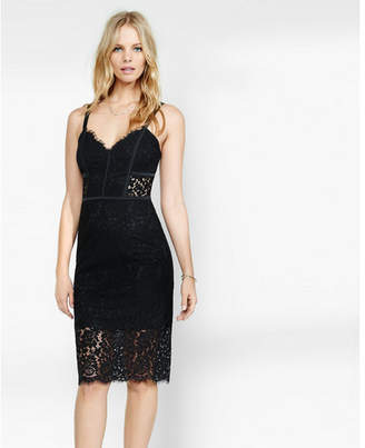 Express piped lace dress $88 thestylecure.com
