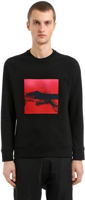 Neil Barrett Liquid Ink Patch Cotton Sweatshirt