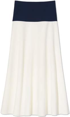 Tory Burch COLOR-BLOCK A-LINE SKIRT